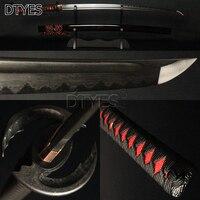 Настоящий японский самурай дамасский меч сталь глина закаленная волна Хамон полный тан Бо Здравствуйте nogi Zukuri лезвие катаны битва готова