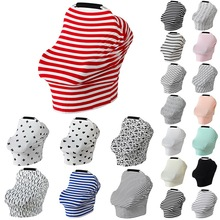 Oeak Baby Car Seat Cover Canopy Nursing Cover Multi-Use Stre