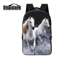Dispalang Unique Laptop School Backpack Horse Cat Print Men S Fashionable Back Pack College Middle High