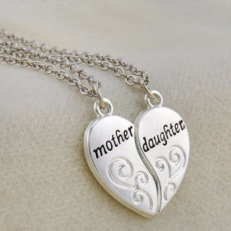 HTB1FpctNXXXXXckXXXXq6xXFXXXv - Mother & Daughter Heart Design Pendants