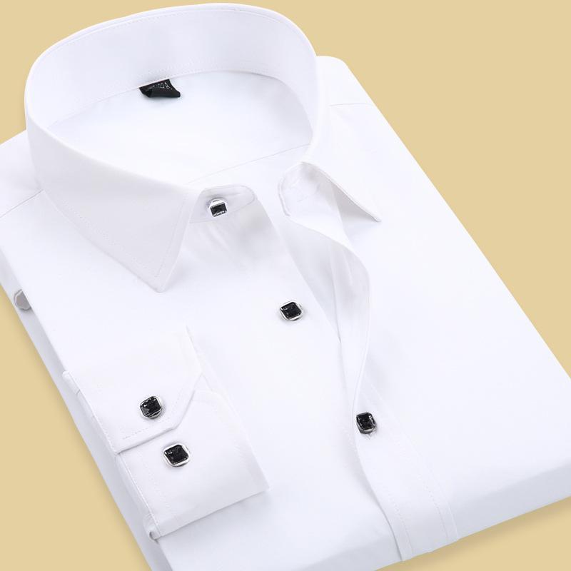Mens White Cufflink Shirt