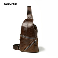Leather Men S Bags 2017 New Style Retro Wind Men S Breasts Baotou Layer Leather Men
