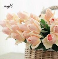 Mylb 11 sztuk/partia Świeże Sztuczne Kwiaty róży Dotykowy Rzeczywistym rose Kwiaty Multicolor Home dekoracje na Wesela lub Urodziny