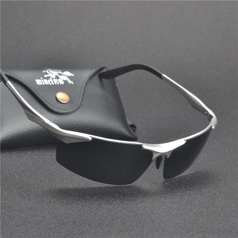 HD Aluminum Magnesium Alloy Frame Polarized Sunglasses Men/'s Driver Sun Glasses