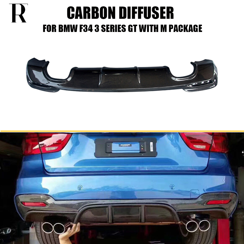 FRP Rear Bumper Diffuser Lip Fit for BMW F34 3Series GT M-Sport 13UP Unpainted
