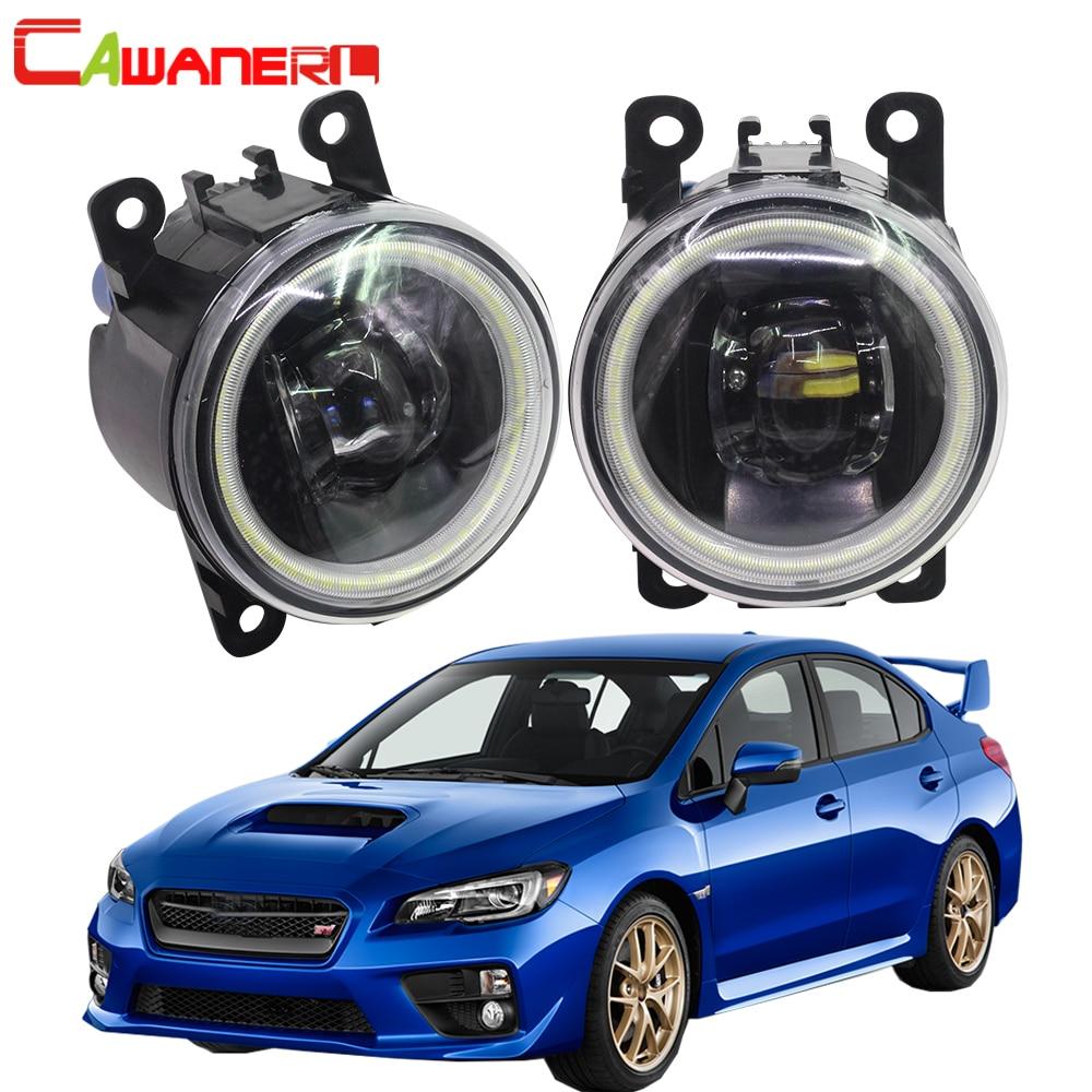 Cawanerl 2 Pieces Car LED Bulb 4000LM Fog Light Angel Eye Daytime Running Light DRL 12V