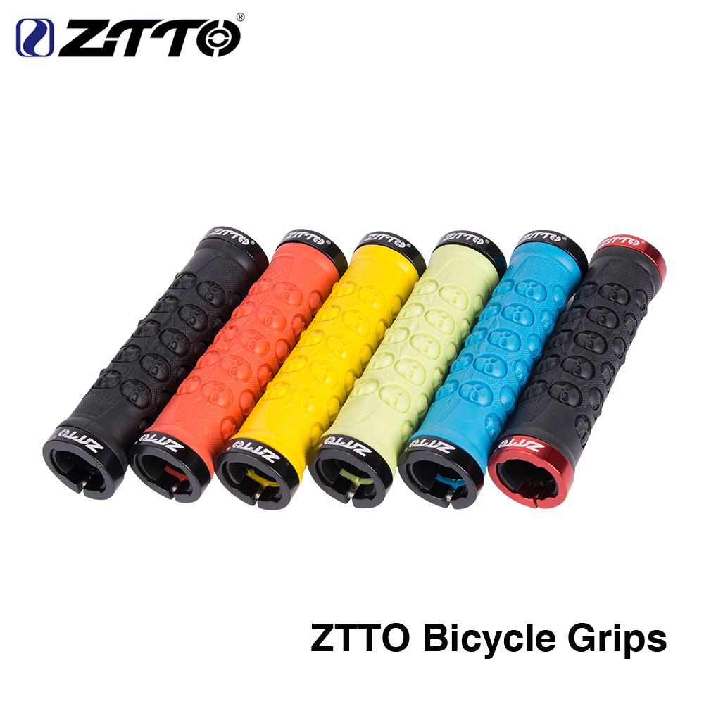 ZTTO 1 Pair  MTB Bike Handlebar Grips TPR Rubber Anti Slip Grips For MTB Folding Bike Skull Bicycle Parts AG-23 Bicycle Parts