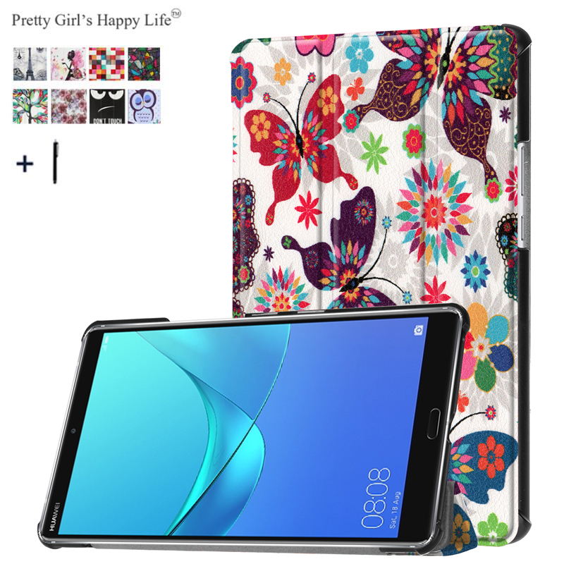 Case For Huawei Mediapad M5 8 4 Slim Stand Flip Leather