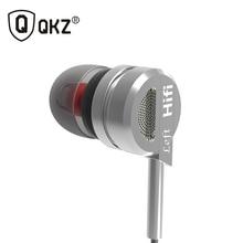 Auricular QKZ DM9 Zinc Aleación de Alta Fidelidad Del Auricular En la Oreja los Auriculares fone de ouvido DJ BASS Metal Auriculares MP3 auriculares audifonos estéreo