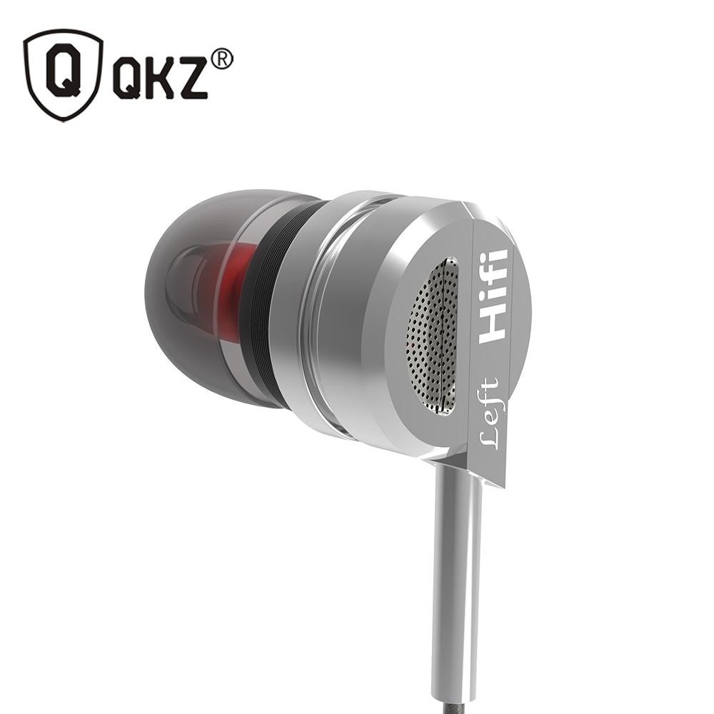 Kopfhörer QKZ DM9 Zink-legierung HiFi Kopfhörer In-ear-ohrhörer fone de ouvido BASS Metall DJ MP3 auriculares audifonos Stereo