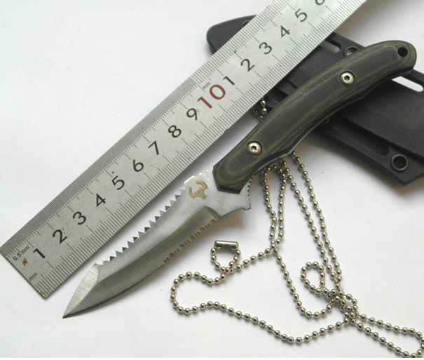 Swiss Survival Fixed Blade font b Knife b font Hunting font b Knife b font Necklace