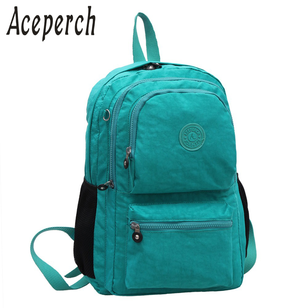 ACEPERCH Casual Backpacks for Teenage Girls Mochila Feminina School Backpack Women Waterproof Nylon Laptop Bagpack Female kiple school backpack for teenage girl mochila feminina women backpacks nylon waterproof casual laptop bagpack female sac a do