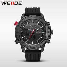 WEIDE genuine brand luxury fashion casual silicon watch sport date digital led quartz men's watch white water resistant analog цена