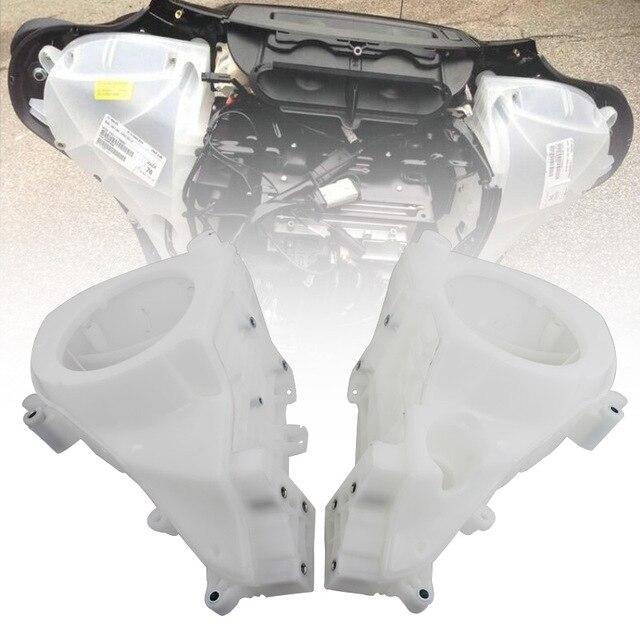 Moto blanc intérieur carénage haut-parleur couvre pour Harley Street glisse Electra glisse Ultra limitée Tri glisse CVO 2014-2020