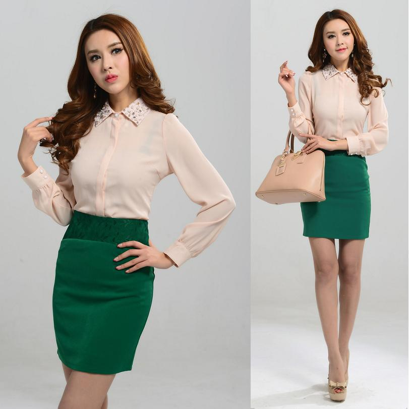 Formal Blouse And Skirt