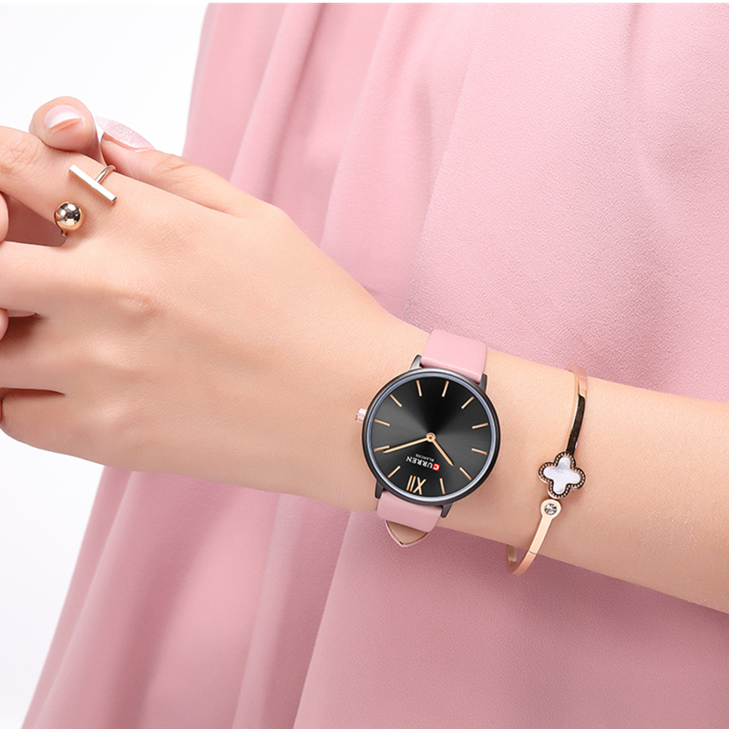 Gift Watch For Women Fashion Ultra Thin Leather Quartz Wristwatch Reloj Mujer CURREN Casual Waterproof Clock Female Montre Femme