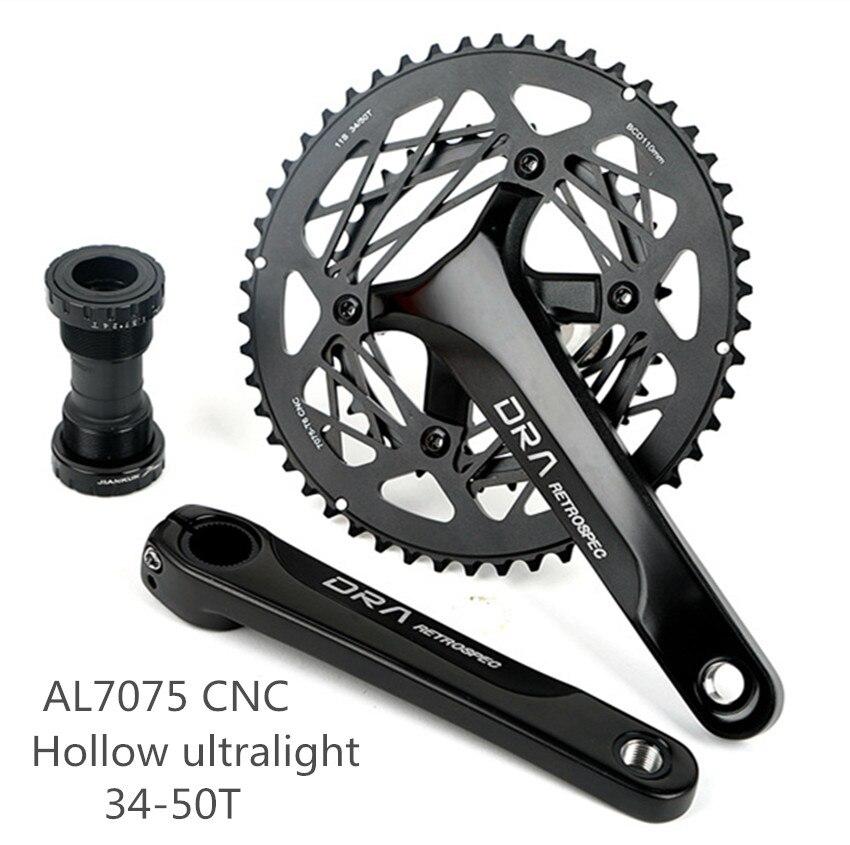 RS DRA Hollow Ultra light Chainwheel Aluminum Alloy Road Bike Crank Bicycle Crankset Sprocket large gear