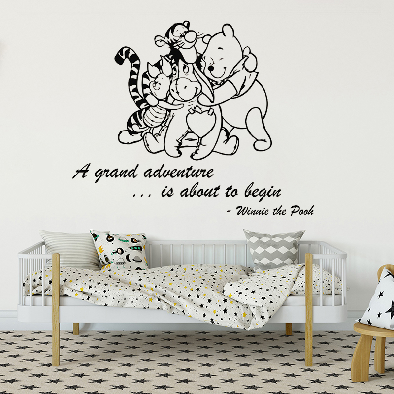 Winnie The Pooh With Friends Wall Sticker For Kids Room Animals