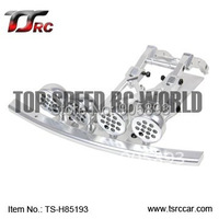 Free Shippng CNC Front Bumper with 4pcs CNC LED light pod 85193 for 5T