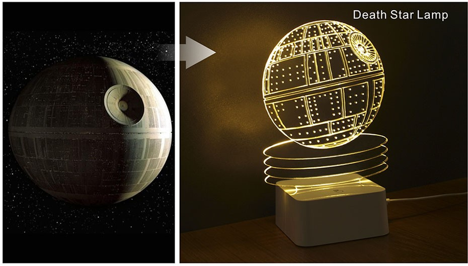 Star was Series Led 3D Night Light 5 light colors available (13)