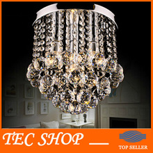 Best Price K9 Crystal Chandelier Lighting Fixture Crystal Lustre Lamp Porch Light Diameter 28x Height 25cm(China)