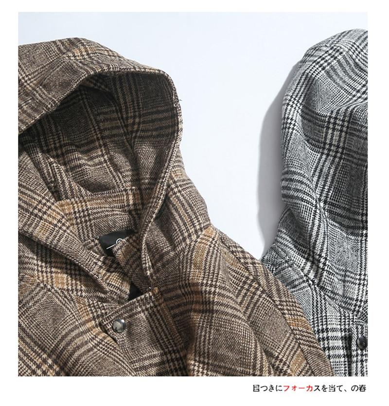 Male Long Coat Oversize Lapel Button Sobretodos Hombre Overcoat Streetwear (8)