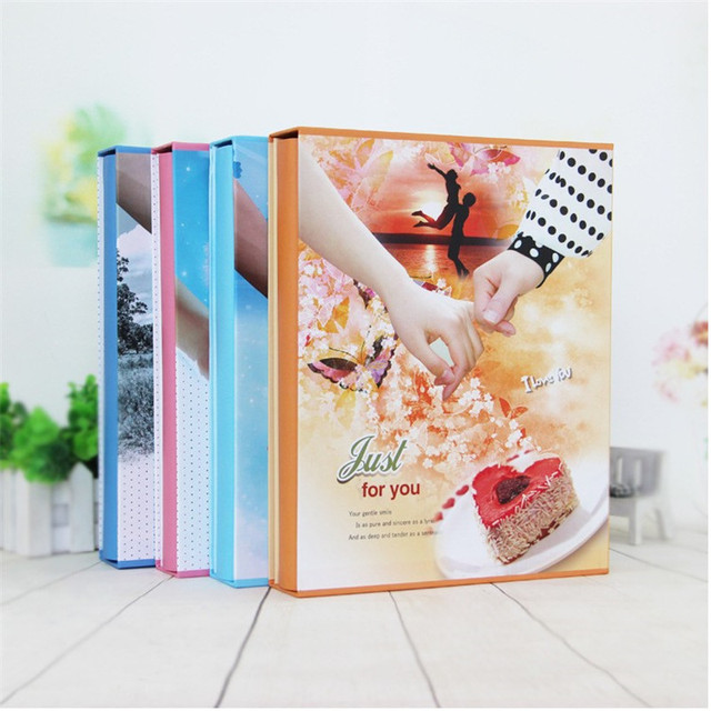 New Arrival Boxed Photo Album For 200 Sheet Of 7 inch 5R Photos Interleaf Type Screw Binding Creative Wedding Gift Yearbook