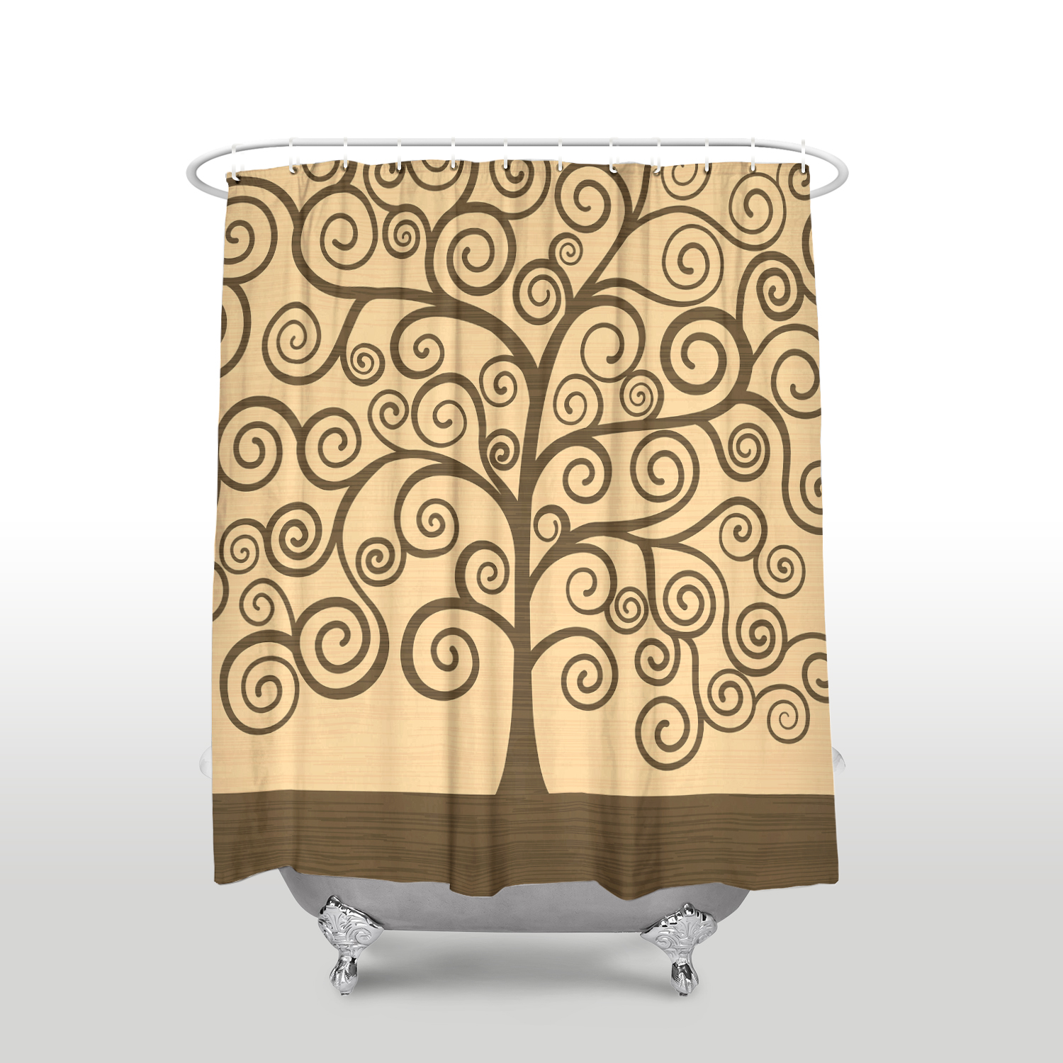 Us 16 97 45 Off New Waterproof Gustav Klimt Tree Of Life Printed Shower Curtain Polyester Fabric Yellow Bathroom Curtains For Home Decorations In