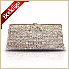 DHL FREIES Elegant Frauentasche Blink Kristall Handtasche Silber Gold Tasche Damen Party Abend Kupplung Handtasche 80227