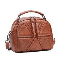 Retro Luxury Brand Women Messenger Bags Top Handle Ladies Shoulder Bag Women S Leather Handbags Casual
