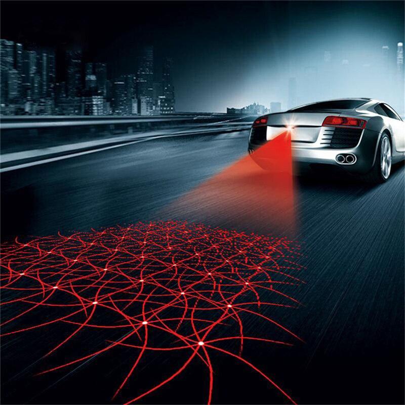 Przeciwkolizyjne samochodowe laserowe światło przeciwmgielne tylna lampa tylna Led światła hamowania samochodu wskaźniki parkowania ostrzegawcze światło cofania