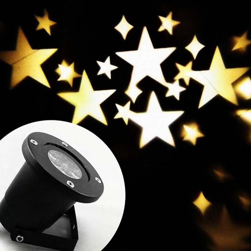 Jiguoor 4W LED Waterproof Star Light Landscape Projector Lamp for Home Christmas Decoration 110-240V