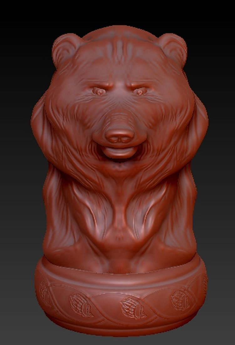 Bear_3D FULL 3d model for cnc or 3D printers in STL file format martyrs faith hope and love and their mother sophia 3d model relief figure stl format religion for cnc in stl file format