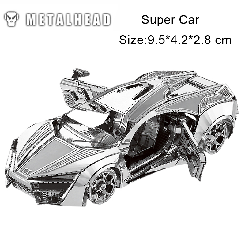 Super Car Stainless Steel 3D Metal Nano-dimensional Kits Puzzle Assembling Cut Model Jigsaw Creative Birthday Gift Decoration