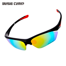 Basecamp Cycling Sunglasses Polarized Outdoor Sports Glasses Free Shipping Black With Five Different Lens Fits for most Occasion