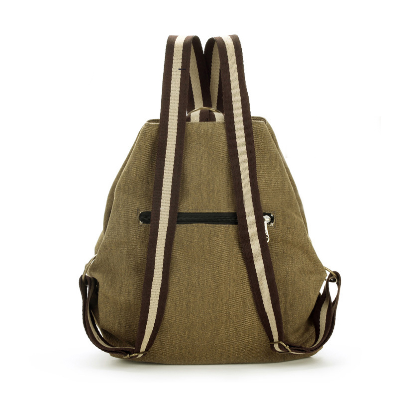 HCH-Tribal Ethnic Canvas Womens Backpack Pouch Hippie Should