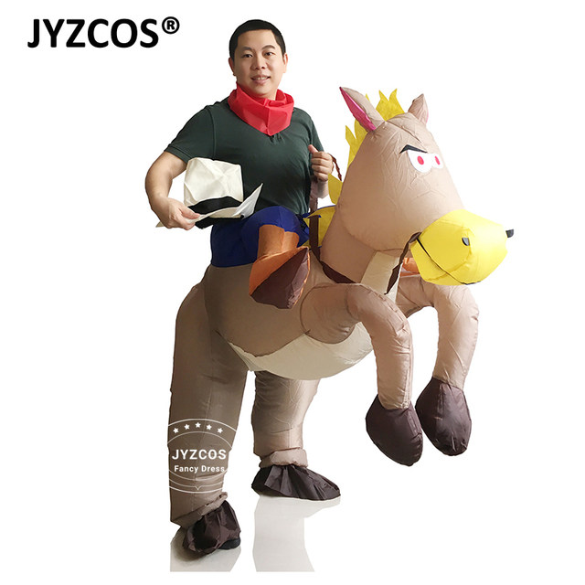 image  sc 1 st  Aliexpress & Online Shop White Gold Coffee Black Horse Inflatable Costume Cowboy ...