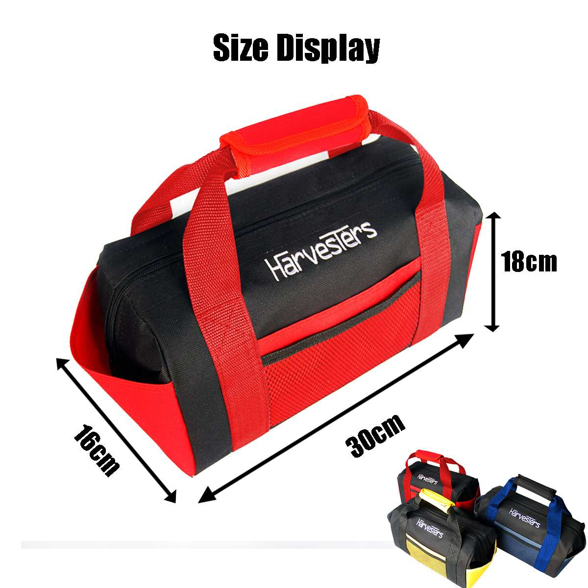 Waterproof Tool Bags Large Capacity Thicken Handheld Oxford Toolbag Electrician Work 8 Pockets Zipper Tools Organizer Portable