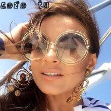 SOZO TU, женские многоцветные круглые солнцезащитные очки, очки, хиппи, Леннон, Оззи, 60 s, 70 s, Ретро стиль, стимпанк, зеркальные очки, uv400