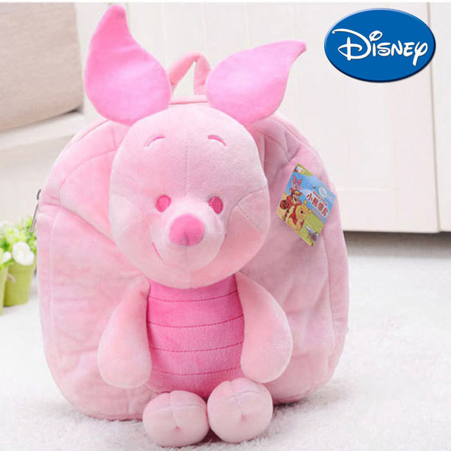a438e5017e8 Disney Backpack Winnie The Pooh Lilo Piglet Cartoon Schoolbag for Kids Soft  Plush Safe PP Cotton