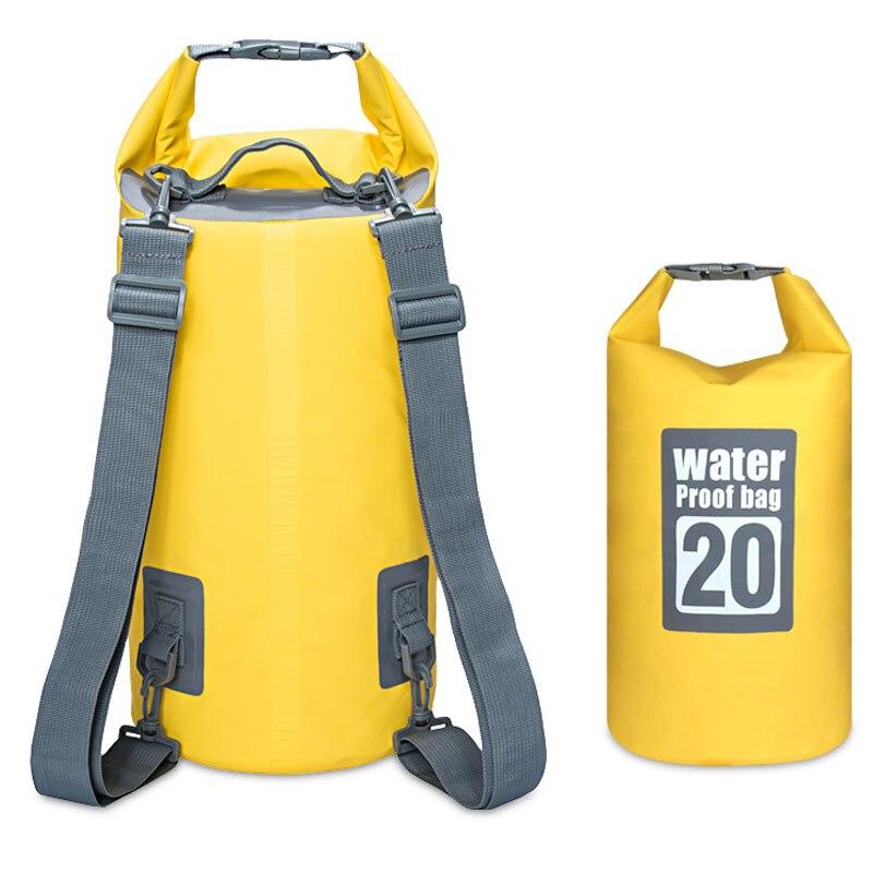 5L 10L 15L 20L PVC Wasserdichte Tasche Outdoor Camping Kanu Kajak Rafting Strand Schwimmen Sport Tasche Reise Kit Rucksack Lagerung taschen