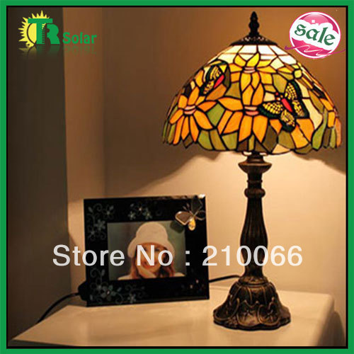 Tiffany Table lighting Lamp Home Decor Stained Glass Chamilia beads European Romantic Bedroom Lighting free shipping
