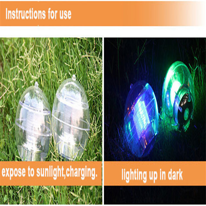 Solar Power Waterproof LED Floating light color Changing Pool Pond fountain floating rainbow Light Lamp 151011