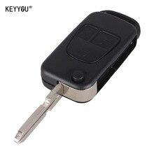 KEYYOU Flip Folding 3 Button Remote Flip Folding Key Shell Fob For Mercedes Benz ML C S Class ML320 C230 ML430 key Case Cover