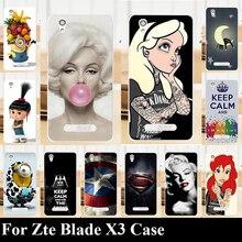 Для Zte Blade X3 Жесткий Пластиковый  Чехол