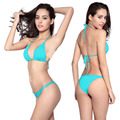 New  Low Waisted Solid Sexy Swimwear Bikinis  New Women Swimsuit  Plus Size Beach Bathing Suits