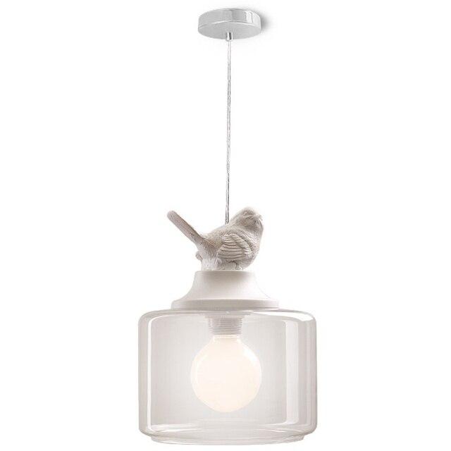 US $37.22 15% OFF GZMJ Vintage Loft LED Pendelleuchte Lampe Vogel Glas  Lampenschirm Industrielle Hängelampe Hause Beleuchtung Wohnzimmer Leuchten  in ...