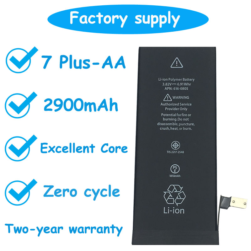 AA Cycle-Battery iPhone 7-Plus Superior-Quality Original Dadaxiong Ce for 2900mah Replacement