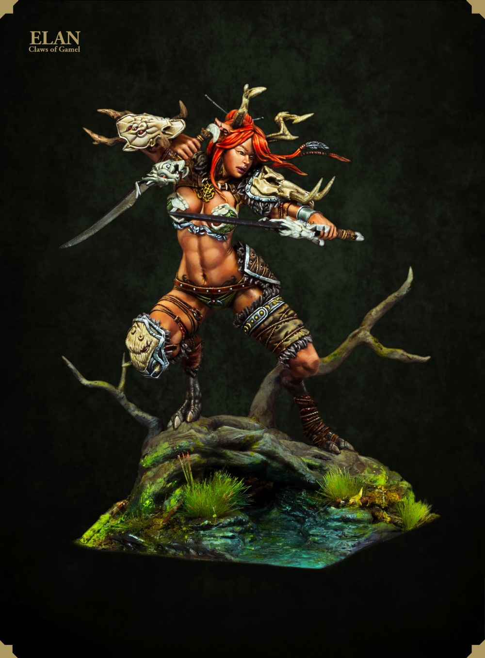 1/24 75mm Fantasy ELAN Claws Of Gamehl 75mm  Toy Resin Model Miniature Kit Unassembly Unpainted