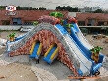 Приключения Надувные triple слайдов, две земли мокрой слайд для детей